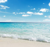 White sand beach — Stock Photo