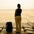 Woman in airport — Stock Photo #5970782