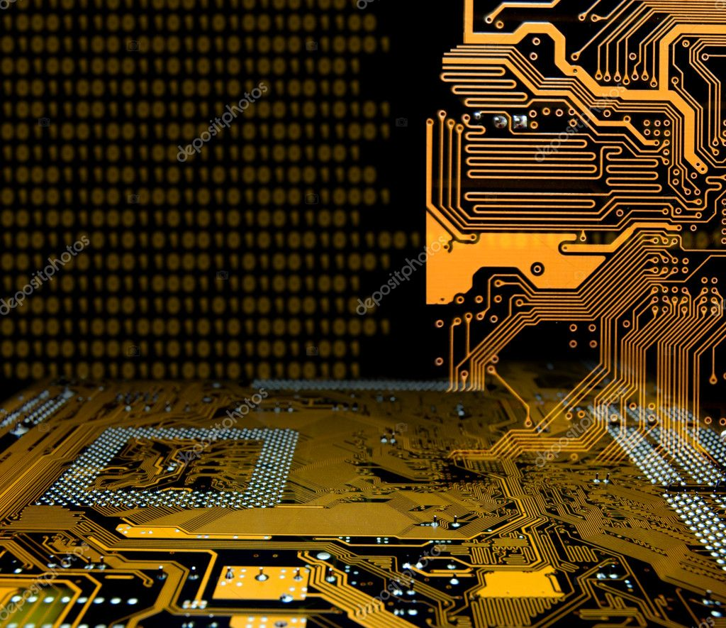 Abstract modern IT technology consept  Stock Photo #5978290