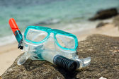 Snorkel and mask — Stock Photo