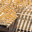 Wooden roof - Foto Stock