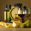Wine and cheese — Stock Photo #6570897