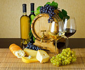 şarap ve peynir — Stok fotoğraf