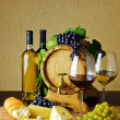 Stock Photo: Wine and cheese