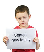 Boy search new family — Stock Photo