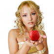 Royalty-Free Stock Photo: Woman and apple
