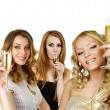 Group of women with champagne - Stock Photo