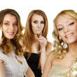 Group of women with champagne — Stockfoto