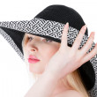 Beautiful young woman in hat — Stock Photo #6017402