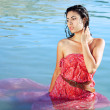Beautiful woman in water - Stock Photo
