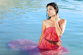 Beautiful woman in water — Stock Photo