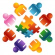 Puzzle Solving Team — Vector de stock #5382109