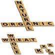 Stock Vector: Natural Organic Whole Wheat Crossword Puzzle