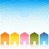 Housing Ripple Effect Background — Stock Vector
