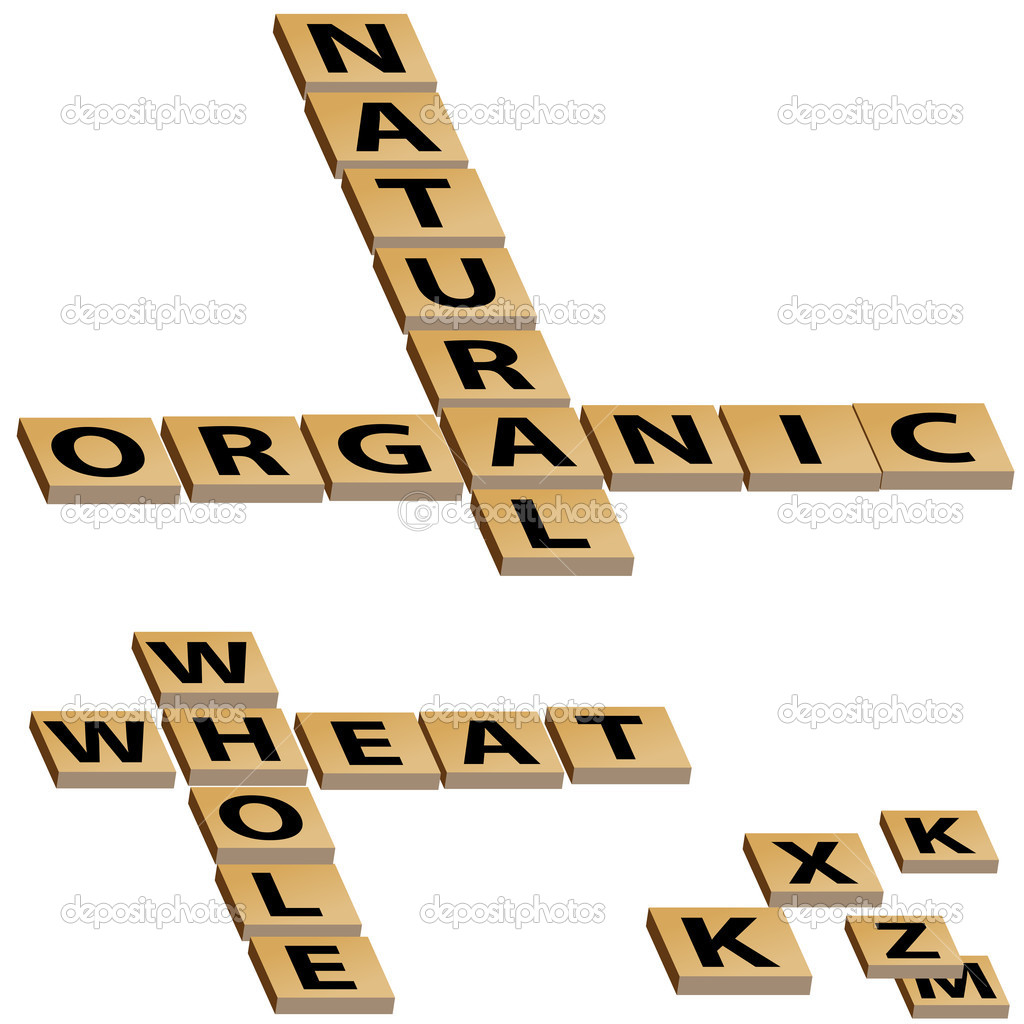 An image of a natural organic whole wheat crossword puzzle. — Stock Vector #5382151