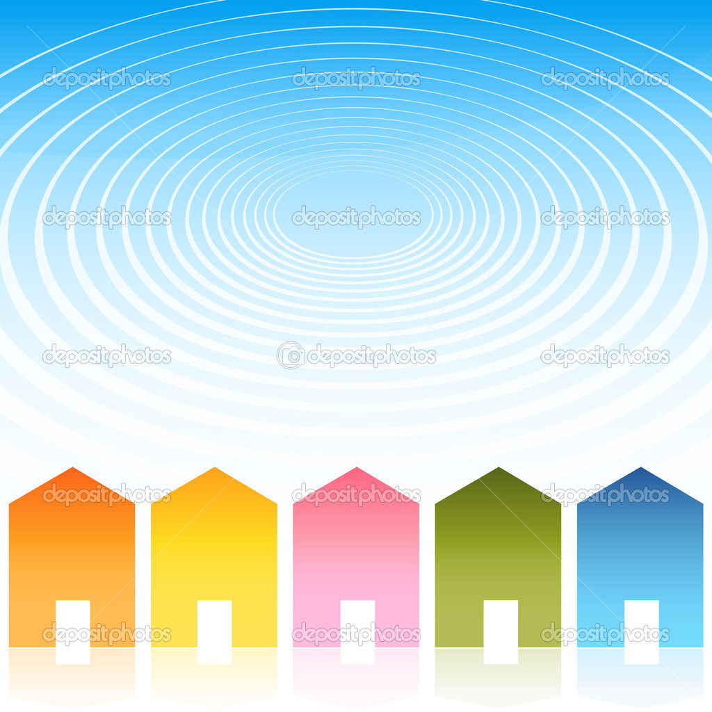 An image of a housing ripple effect background.  Stock Vector #5382165