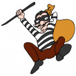 Stock Vector: Robber Escaping