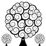Swirl Tree Owl — Stock Vector