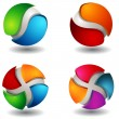 Abstract 3D Sphere Set - Stock Vector