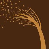 Wind Blown Tree — Stock Vector