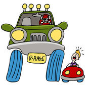 Road Rage Driver — Stock Vector
