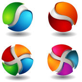 Abstract 3D Sphere Set — Stock Vector