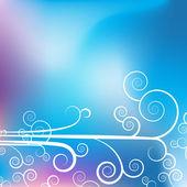 Swirl Purple Blue Background — Stock Vector