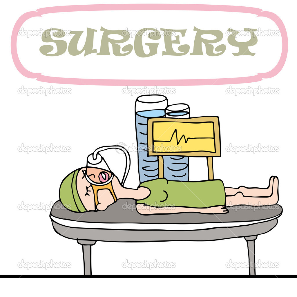 An image of a woman having surgery procedure.  Stock Vector #5482996