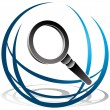 Global Search Icon - Stock Vector