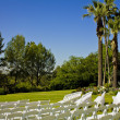 Stock Photo: Rows of Wedding Chairs
