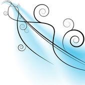 Flowing Wind Swirls — Stock Vector