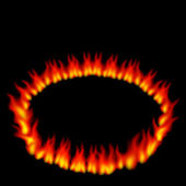 Ring of Fire — Stock Vector