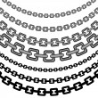 Curved Chain Pattern — Stock Vector