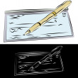 Checkbook and Pen — Stock Vector #5730410