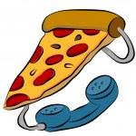 Pizza Phone Hotline — Stock Vector #5730453