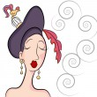 Royalty-Free Stock Vector Image: Fancy Garden Party Hat Woman