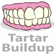 Tartar Buildup on Teeth - Stock Vector