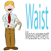 Healthy Waist Measurement — Stock Vector