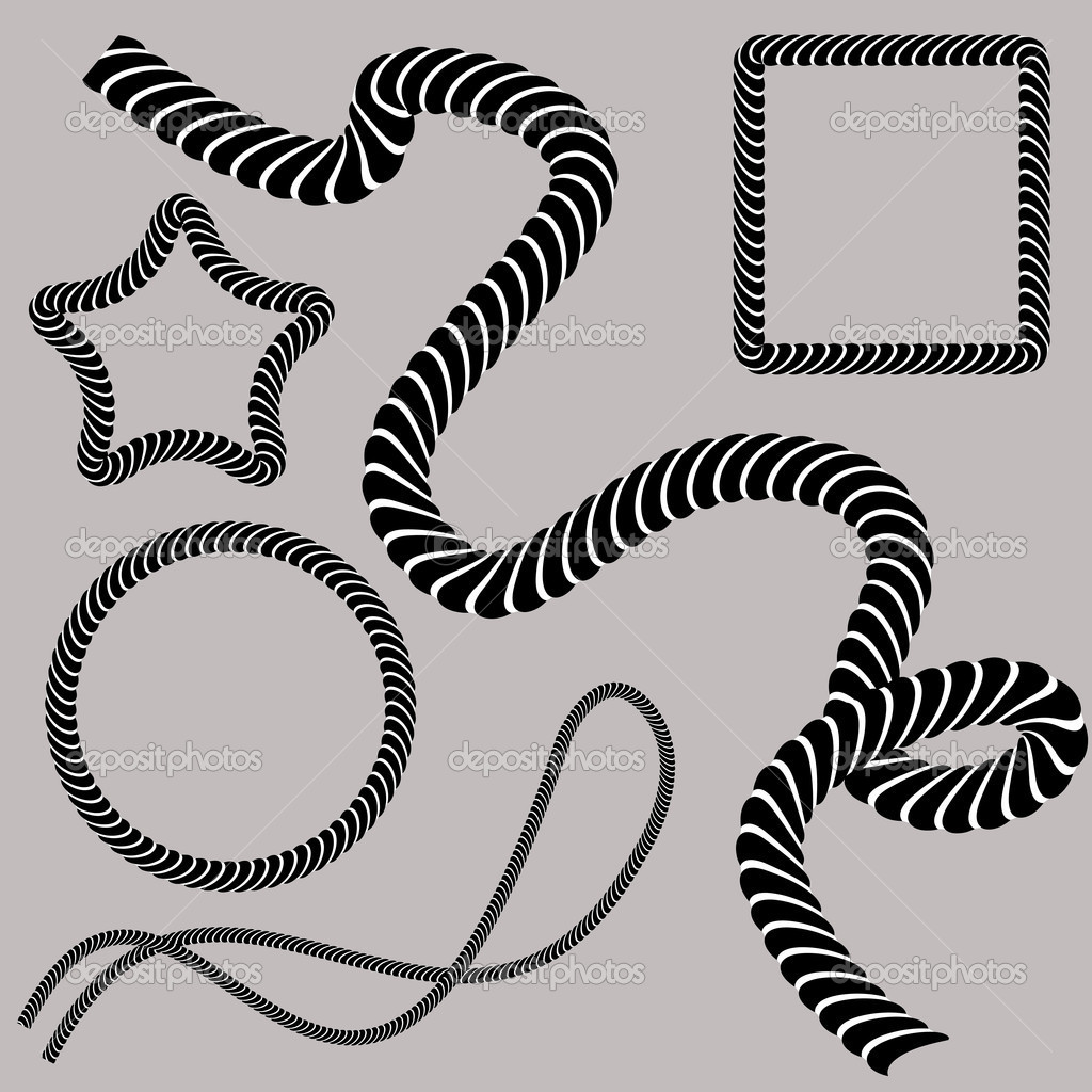 An image of a set of twisted rope shapes. — Stock Vector #5730311
