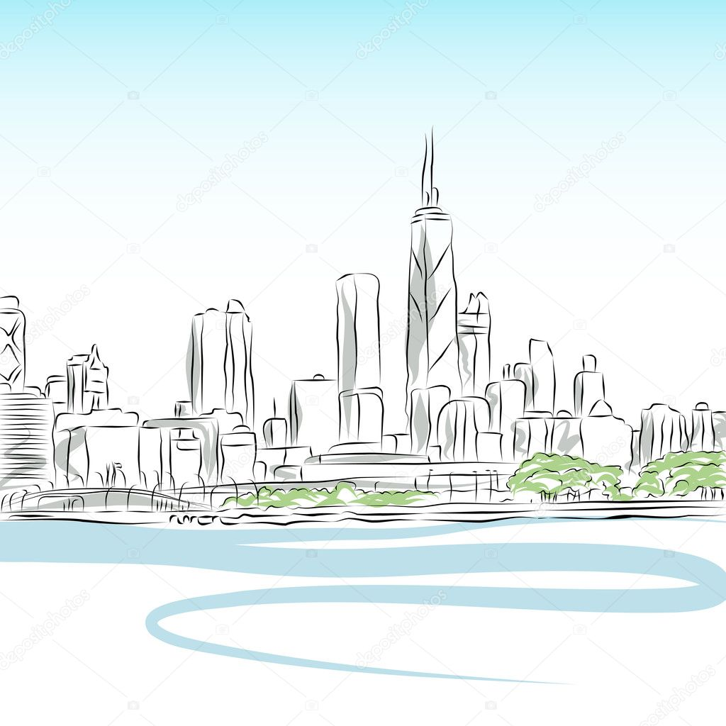 Free Bethlehem Outline Coloring Pages Chicago Skyline Coloring Page