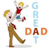 Great Dad — Stock Vector