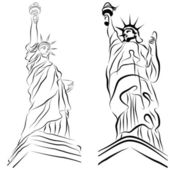 Statue of Liberty Drawings — Stock Vector