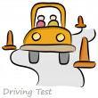 Driving Test Drawing — Stock Vector