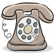 Old Fashioned Telephone — Imagen vectorial