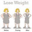 Lose Weight Woman — Stock Vector #5782078