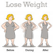 Stock Vector: Lose Weight Woman