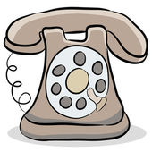 Old Fashioned Telephone — Stock Vector