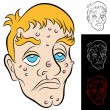 Stock Vector: Bad Face Man