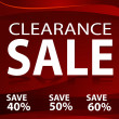 Clearance Sale Background — Imagen vectorial
