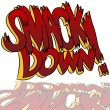 Stock Vector: Smack Down Comic Sound Effect Text